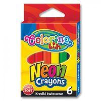 Kredki, Kredki świecowe Colorino 6 kolorów neonowych