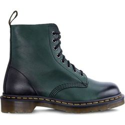 Dr Martens 1460 PASCAL ANTIQUE TEMPERLEY GREEN - Buty Glany