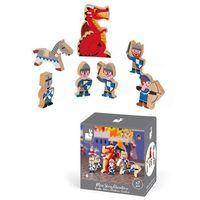 Zabawki z drewna, Janod - Rycerze zestaw drewniany 7 elementów kolekcja Story