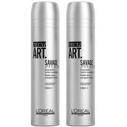 Loreal Tecni.Art Savage Panache | Zestaw: pudrowy spray dodający objętości 2x250ml