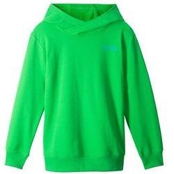Bluza z kapturem bonprix zielony neonowy z nadrukiem