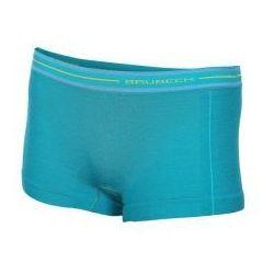 BRUBECK Bokserki termoaktywne damskie 1st Layer Active Wool (szmaragdowy) (BX10860)
