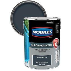 Emalia chlorokauczukowa Nobiles do metalu i betonu szara grafitowa 5 l
