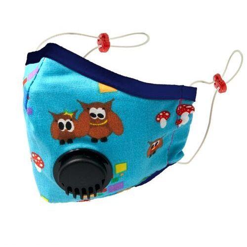 Maseczki i przyłbice ochronne, Maska D z filtrem i zaworem oddechowym BLUE OWL