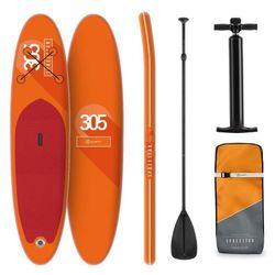 KLARFIT Spreestar deska pneumatyczna pompowana dmuchana SUP-Board 305x10x77 pomarańczowa