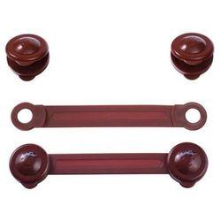 Uniwersalne zabezpieczenie (szafek, lodówek, toalet) 2 szt. BabyOno, Brązowe - Brązowy