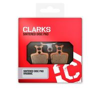 Pozostałe części rowerowe, Clarks Formula Oro Klocek hamulcowy sintered szary Klocki do hamulców tarczowych