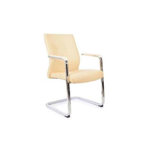 Fotele i krzesła biurowe, Krzesło konferencyjne VISITOR kremowy