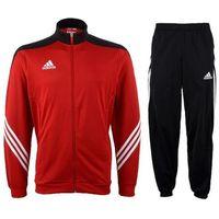 Piłka nożna, Dres juniorski Adidas Sereno 14 PES D82933 czerwono-czarny