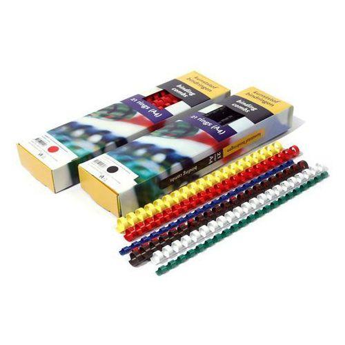Grzbiety do bindownic, Grzbiety do bindowania plastikowe, białe, 32 mm, 50 sztuk, oprawa do 300 kartek - Super Ceny - Rabaty - Autoryzowana dystrybucja - Szybka dostawa - Hurt