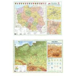 Mapa Polski A2 Dwustronna ścienna ART-MAP