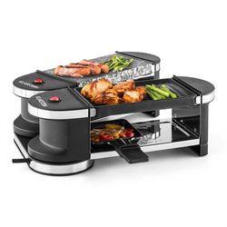 Klarstein Tenderloin grill mini-raclette 600 W 360°podstawa płyta grillowa gorący kamień Zamów ten produkt do 21.12.16 do 12:00 godziny i skorzystaj z dostawą do 24.12.2016