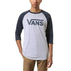 koszulka VANS - Classic Raglan Athletic Heather/Dress Blues (KOO) rozmiar: XL