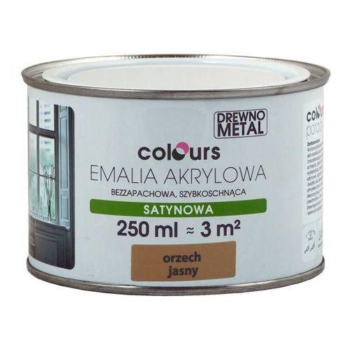 Farby, Emalia akrylowa Colours orzechowa jasna 0,25 l
