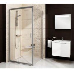 Ravak Blix ścianka stała jednoczęściowa BLPS-80, wys. 190 cm, Polerowane aluminium +Grafit 9BH40C00ZH