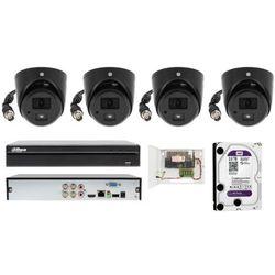 Kompletny zestaw monitoringu na 4 kamery kopułowe FULL HD 2 MPIX