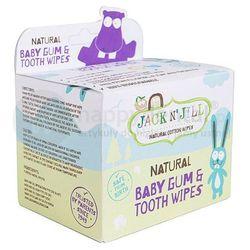 JACK N'JILL Natural Baby Gum & Tooth Wipes 25szt - naturalne chusteczki do pielęgnacji dziąseł i pierwszych ząbków niemowląt
