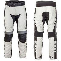 Spodnie motocyklowe męskie, Motocyklowe spodnie W-TEC Avontur wodooporne, Szaro-czarny, 4XL