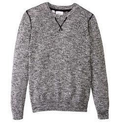 Sweter melanżowy bonprix czarno-biel wełny melanż