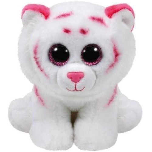 Pluszaki zwierzątka, Beanie Babies Tabor - Różowo-biały Tygrys 24cm