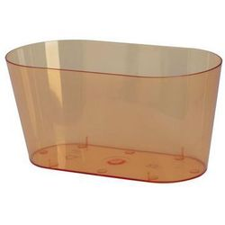 Osłonka na storczyki 23 x 11 cm plastikowa herbaciana FORM-PLASTIC