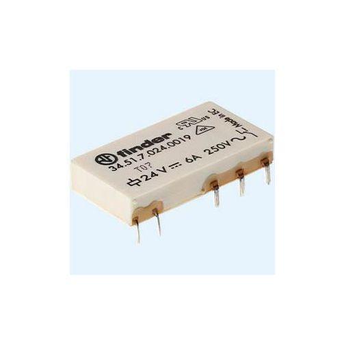 Przekaźniki, Przekaźnik 1NO 6A 60V DC, Styk AgSnO2 leżący 34.51.7.060.4319