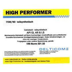 High Performer 75W/90 GL4/5 TS - Getriebeöl 1 Litr Puszka