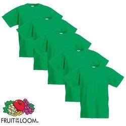 Fruit of the Loom 5 koszulek dla dzieci, 100% bawełny, zielonych, rozmiar 164 cm Darmowa wysyłka i zwroty
