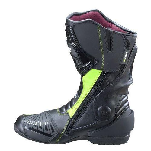 Buty motocyklowe, Skórzane buty motocyklowe W-TEC Brogun NF-6003, Zielony, 47