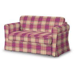 Dekoria Pokrowiec na sofę Hagalund, różowo-beżowa kratka, Sofa Hagalund, Mirella