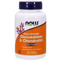 Suplementy do ochrony stawów, NOW FOODS Glucosamine & Chondroitin - extra strength 60tabl.