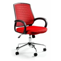Krzesło biurowe, fotel, Award, czerwony