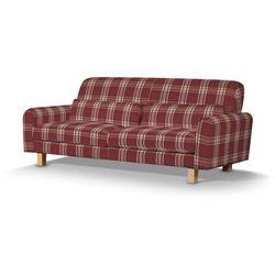 Dekoria Pokrowiec na sofę Nikkala krótki, krata bordowa, sofa nikkala, Edinburgh