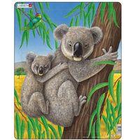 Puzzle, Puzzle MAXI - Medvídek Koala s mládětem/25 dílků neuveden
