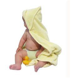 Dwustronny ręcznik z chłonnego bambusa Close Parent - Żółty 90cmx90cm - Żółty