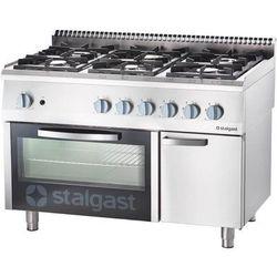 Kuchnia gastronomiczna gazowa 6-palnikowa z piekarnikiem gazowym