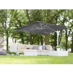 Parasol ogrodowy 250 x 250 x 235 cm antracytowy/biały MONZA