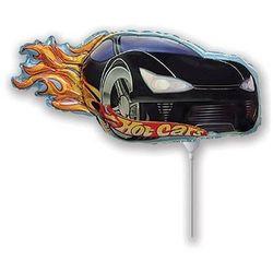 Balon foliowy do patyka - Hot Wheels czarny - 37 cm - 1 szt.