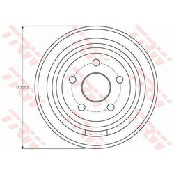 BĘBEN HAM TRW DB4407 CHRYSLER PT CRUISER 1.6 116KM 01-10, 2.2CRD 150KM 05-10
