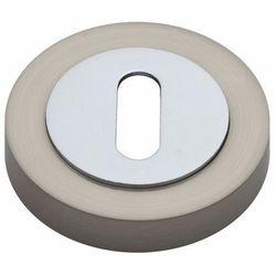Szyld drzwiowy Gamet dolny na klucz nikiel szczotkowany/chrom