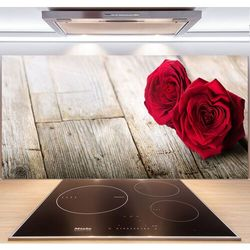 Panel do kuchni Róże na drewnie