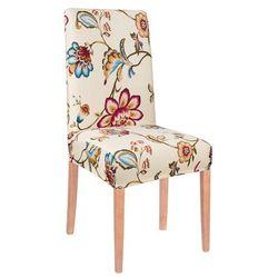 Pokrowiec na krzesło elastyczny kremowe kwiaty
