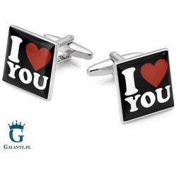 Spinki do mankietów X2 I Love You Prezent na Walentynki
