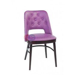 Krzesło bez podłokietnika bez guzików Buk Paged A-0045