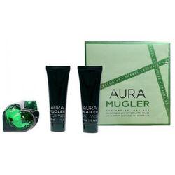 Thierry Mugler Aura, Zestaw podarunkowy, woda perfumowana 50ml + mleczko do ciała 50ml + Żel pod prysznic 50ml (Travel set)
