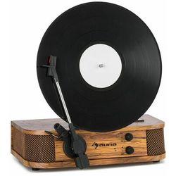 Auna Verticalo SE, gramofon retro, USB, Bluetooth, wyjście liniowe, drewno
