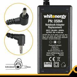 Zasilacz do notebooka Whitenergy zasilacz 19V/4.74A 90W wtyczka 4.8-4.2x1.7 mm HP Compaq (05864) Darmowy odbiór w 16 miastach!