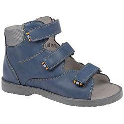 Trzewiki Profilaktyczne Ortopedyczne Buty DAWID 953-2 G Granatowe - Granatowy ||Niebieski ||Multikolor