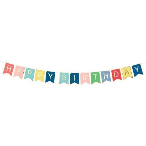 Pozostałe wyposażenie domu, Baner kolorowy z napisem Happy Birthday - 175 cm - 1 szt.