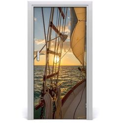 Fototapeta samoprzylepna na drzwi Jacht na morzu